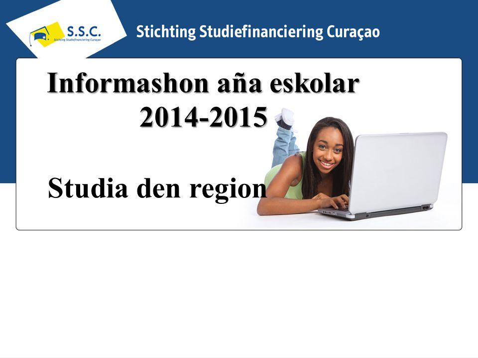 Informashon aña eskolar 2014-2015