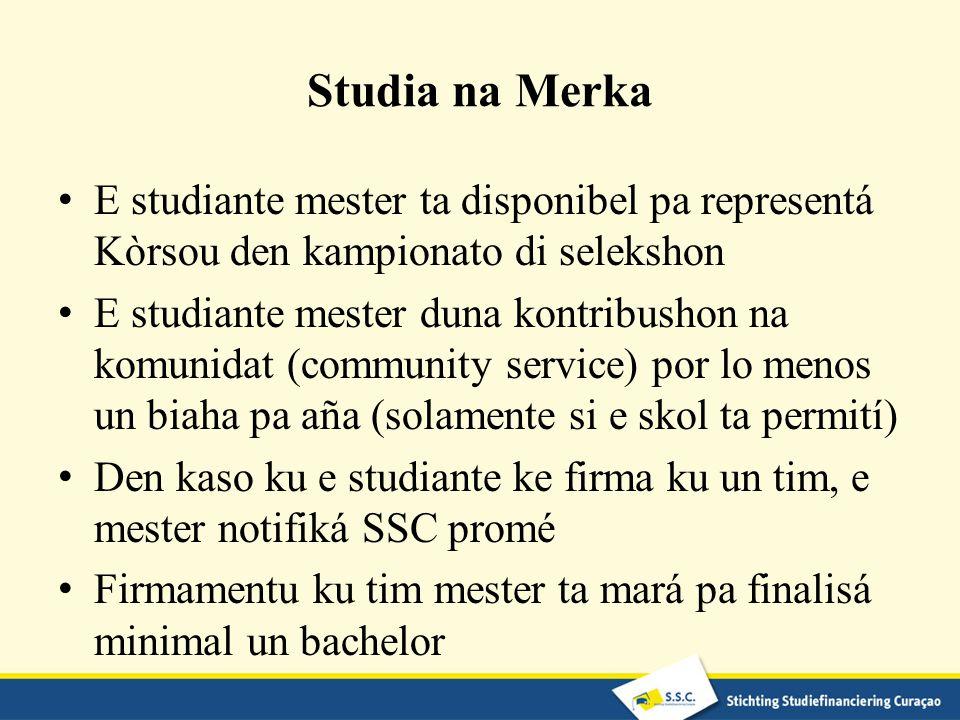 Studia na Merka E studiante mester ta disponibel pa representá Kòrsou den kampionato di selekshon.