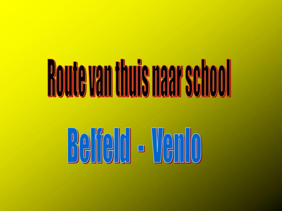 Route van thuis naar school