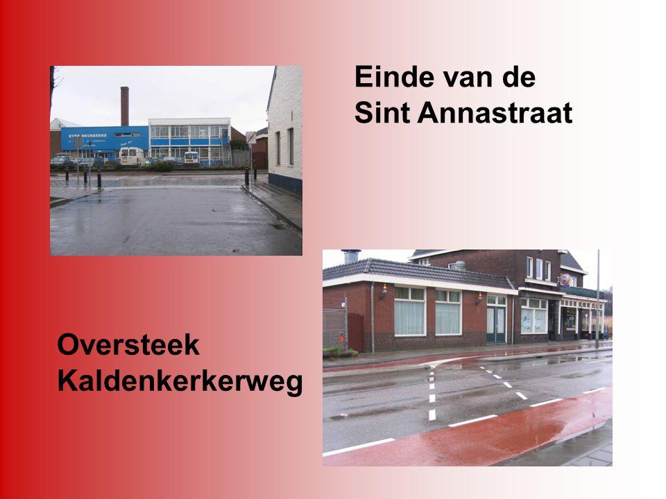 Einde van de Sint Annastraat Oversteek Kaldenkerkerweg