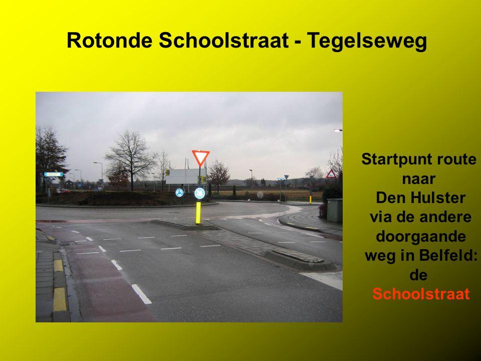 Rotonde Schoolstraat - Tegelseweg