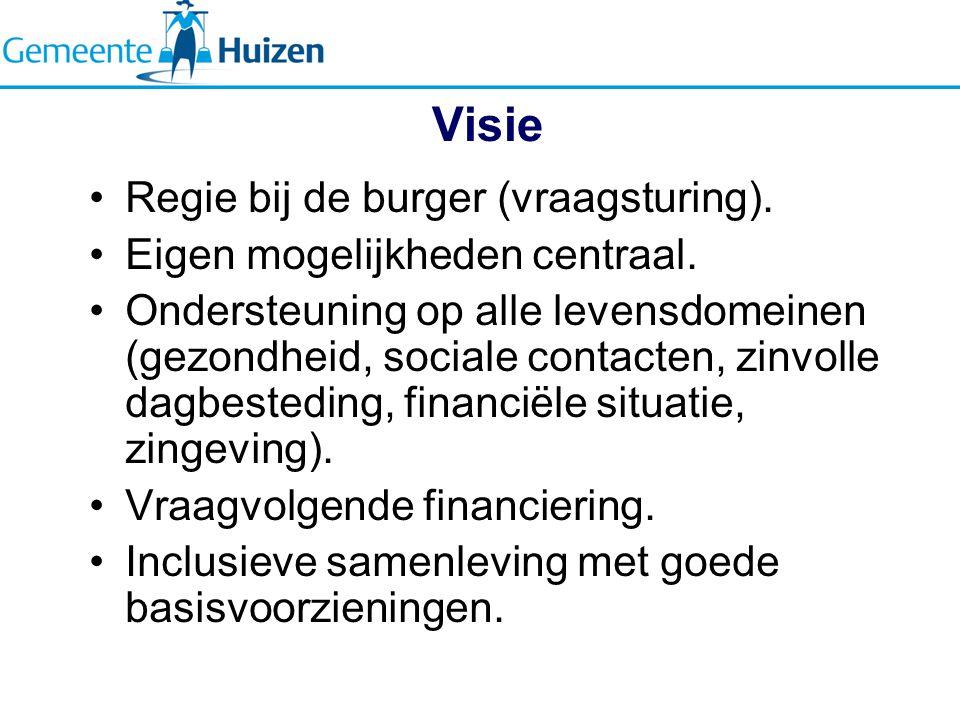 Visie Regie bij de burger (vraagsturing).