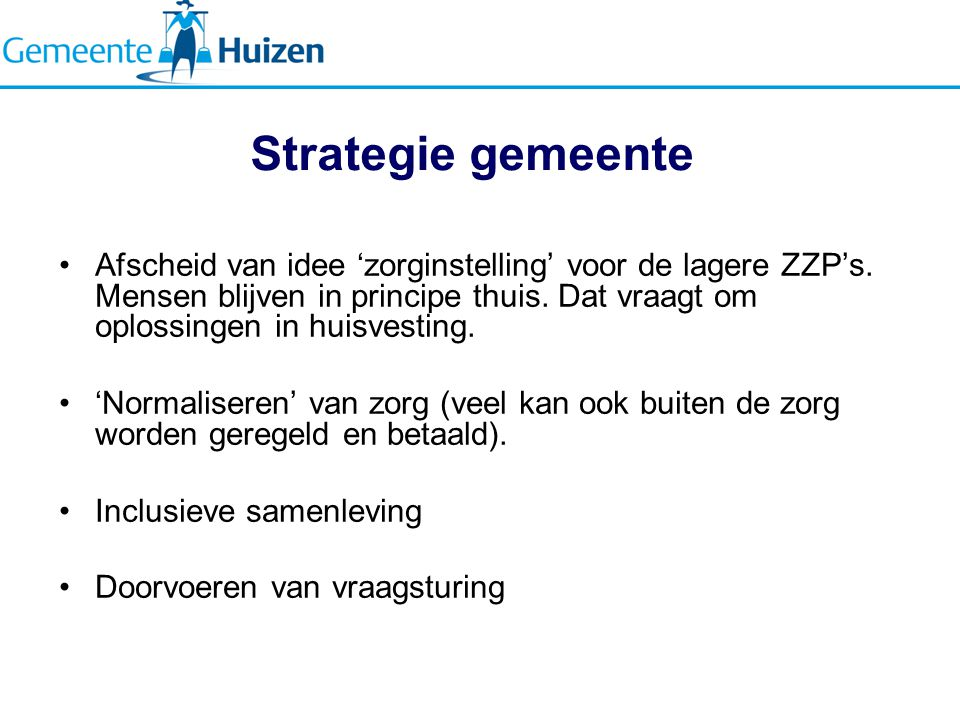 Strategie gemeente
