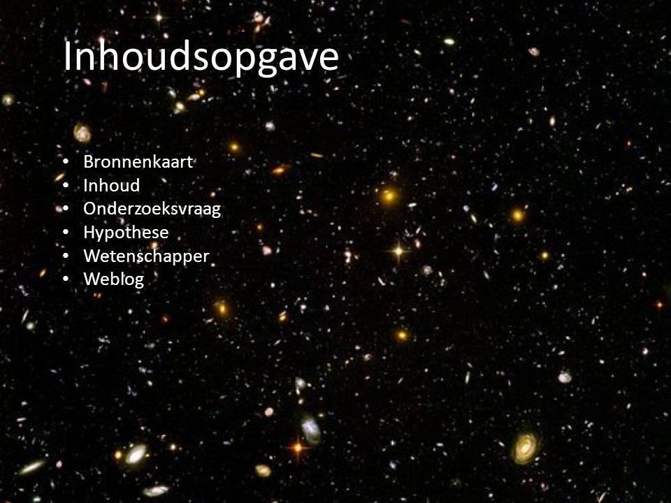 Inhoudsopgave Bronnenkaart Inhoud Onderzoeksvraag Hypothese