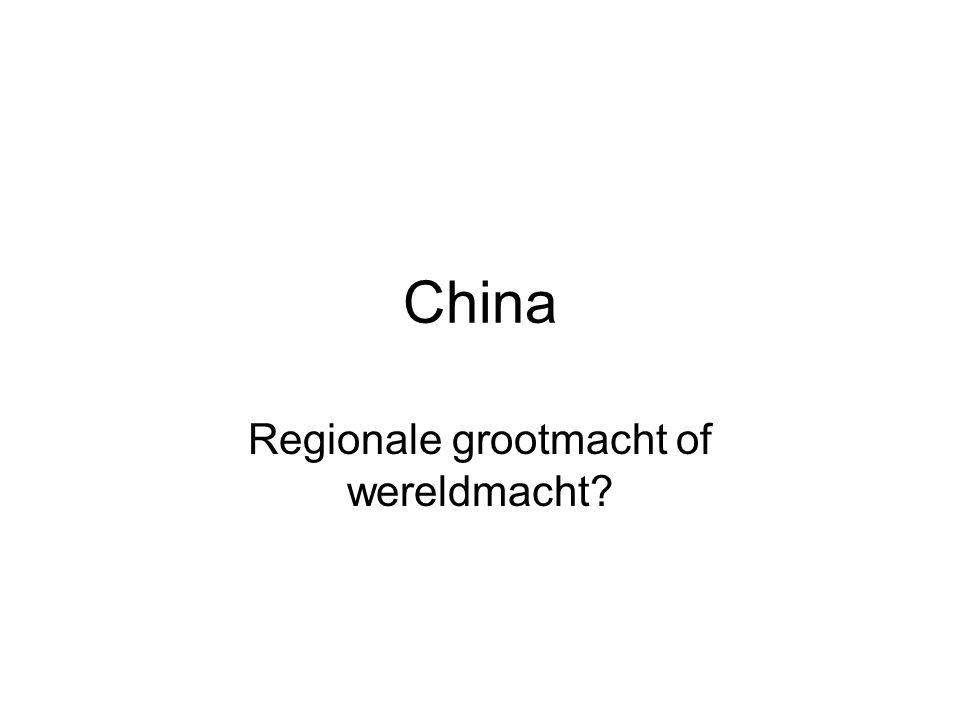 Regionale grootmacht of wereldmacht