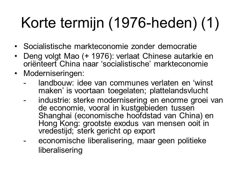 Korte termijn (1976-heden) (1)