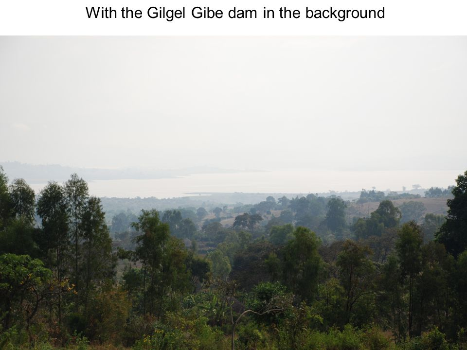 With the Gilgel Gibe dam in the background
