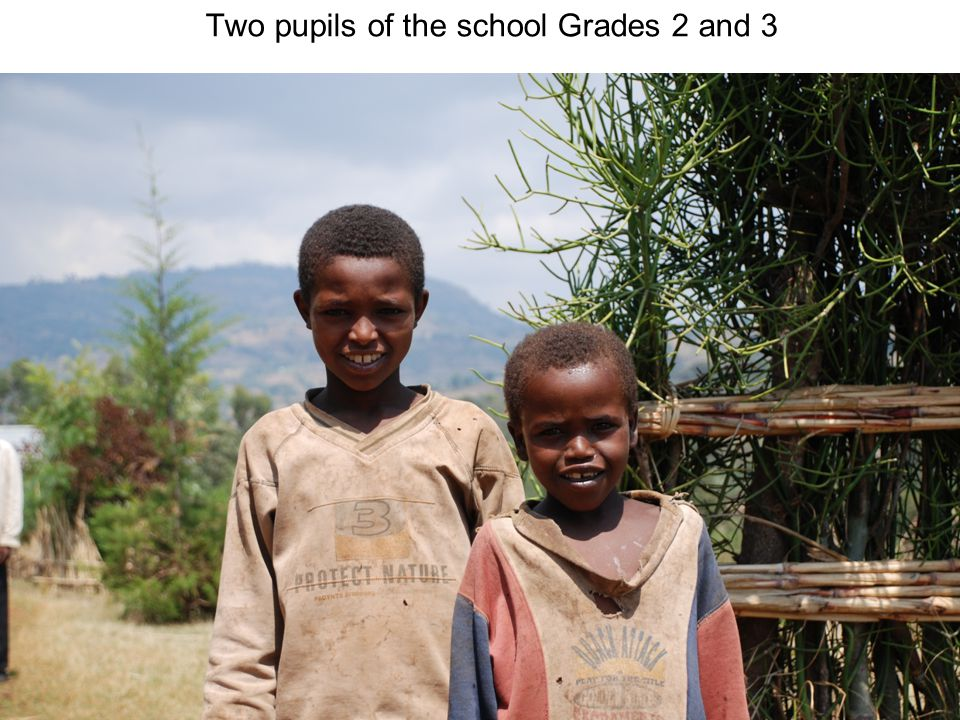 Two pupils of the school Grades 2 and 3