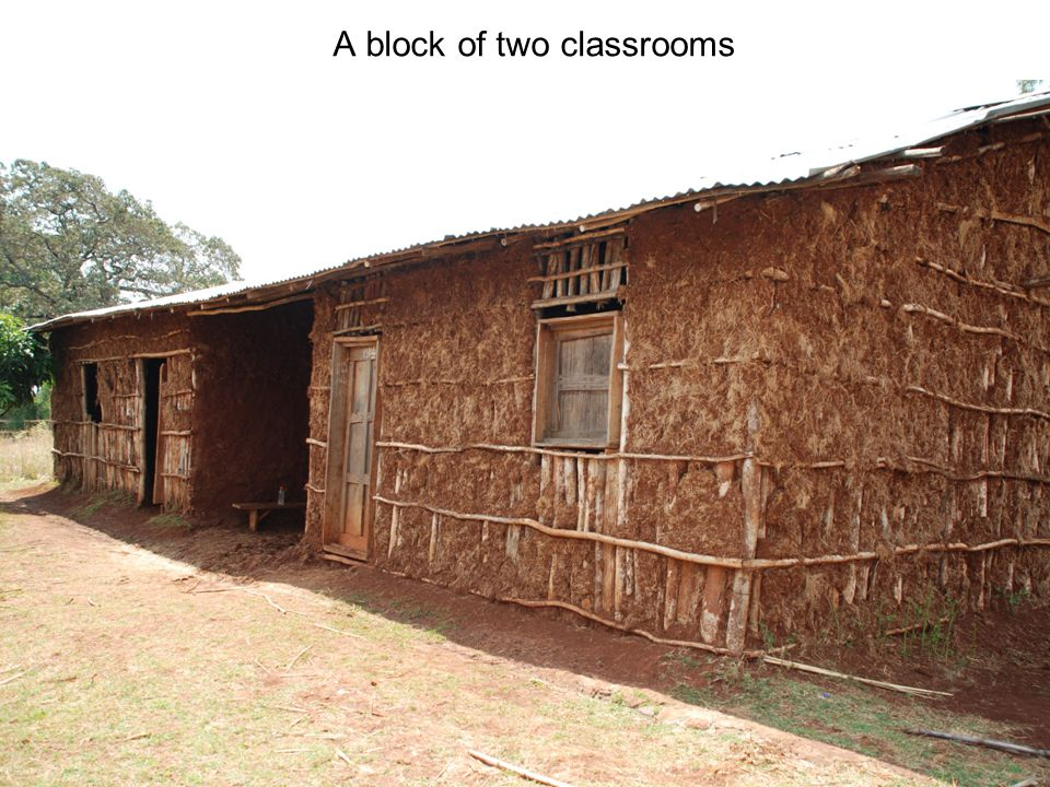 A block of two classrooms
