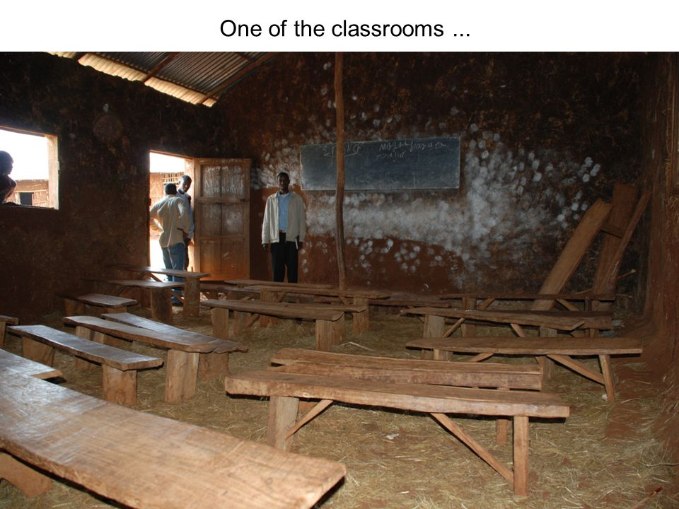 One of the classrooms ...