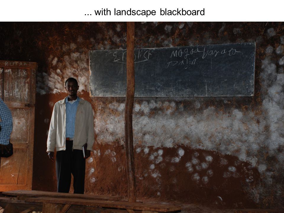 ... with landscape blackboard