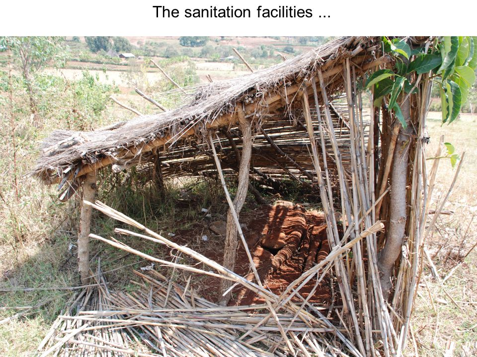 The sanitation facilities ...