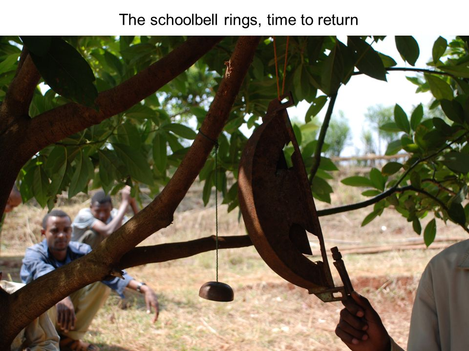 The schoolbell rings, time to return