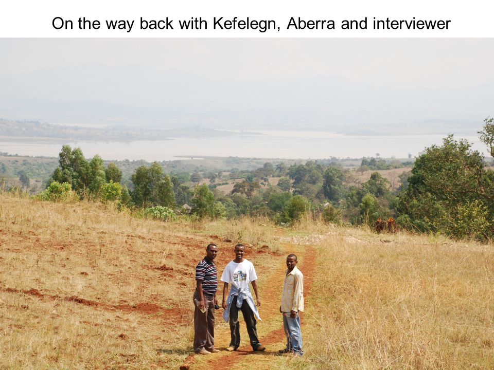 On the way back with Kefelegn, Aberra and interviewer
