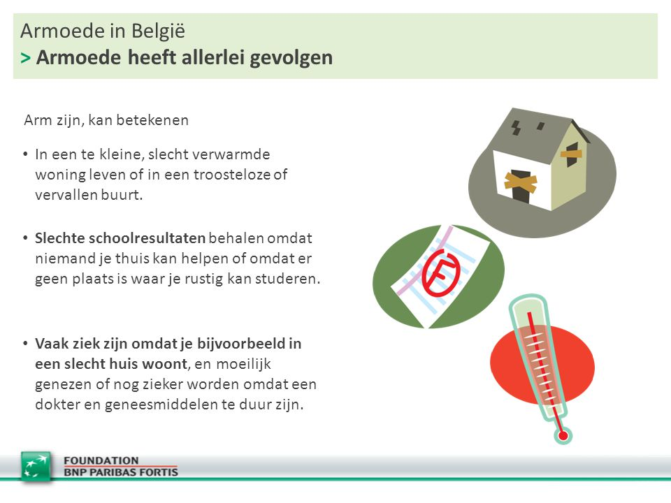 Armoede in België > Armoede heeft allerlei gevolgen