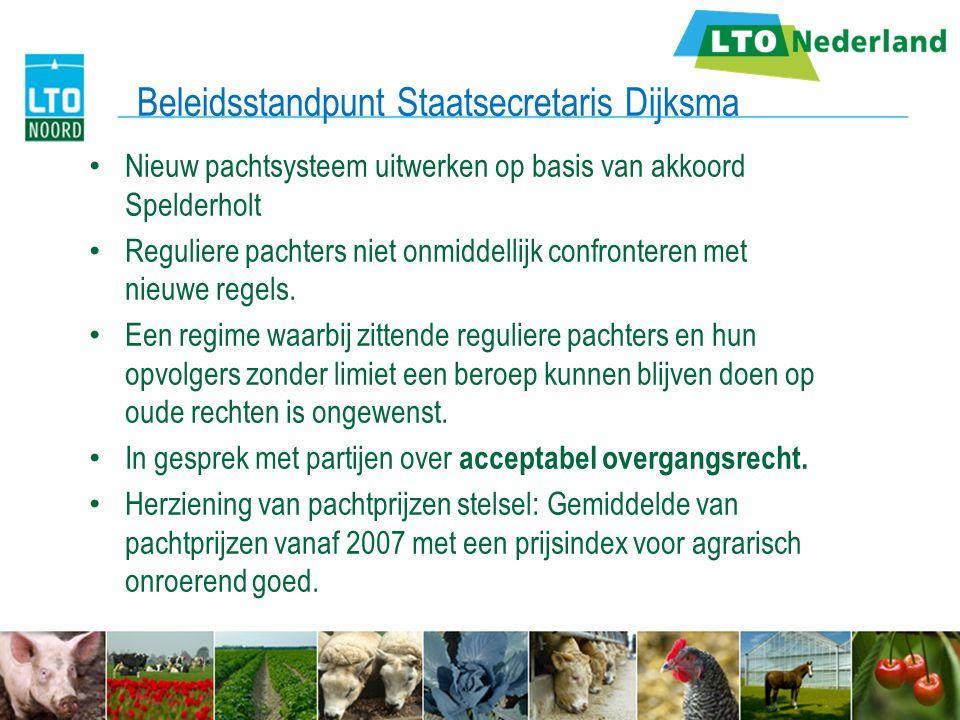 Beleidsstandpunt Staatsecretaris Dijksma