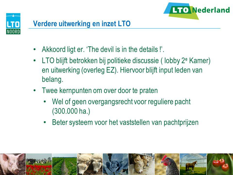 Verdere uitwerking en inzet LTO