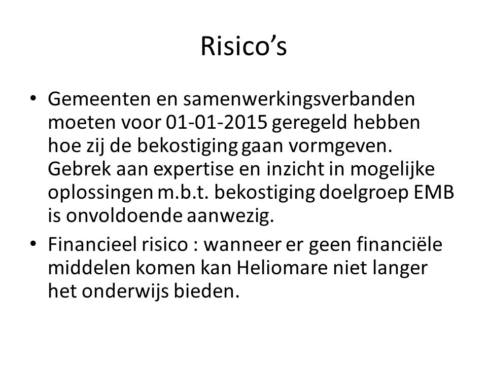 Risico's