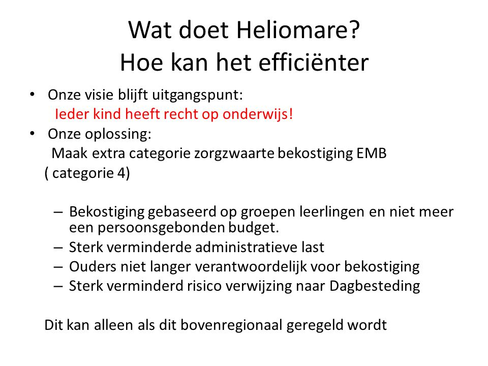 Wat doet Heliomare Hoe kan het efficiënter