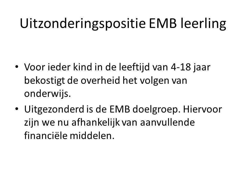 Uitzonderingspositie EMB leerling