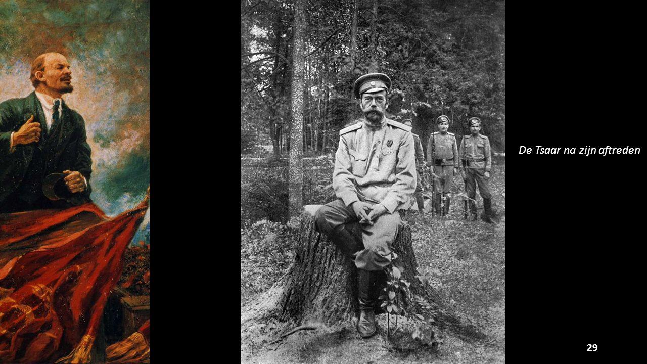 De Tsaar na zijn aftreden