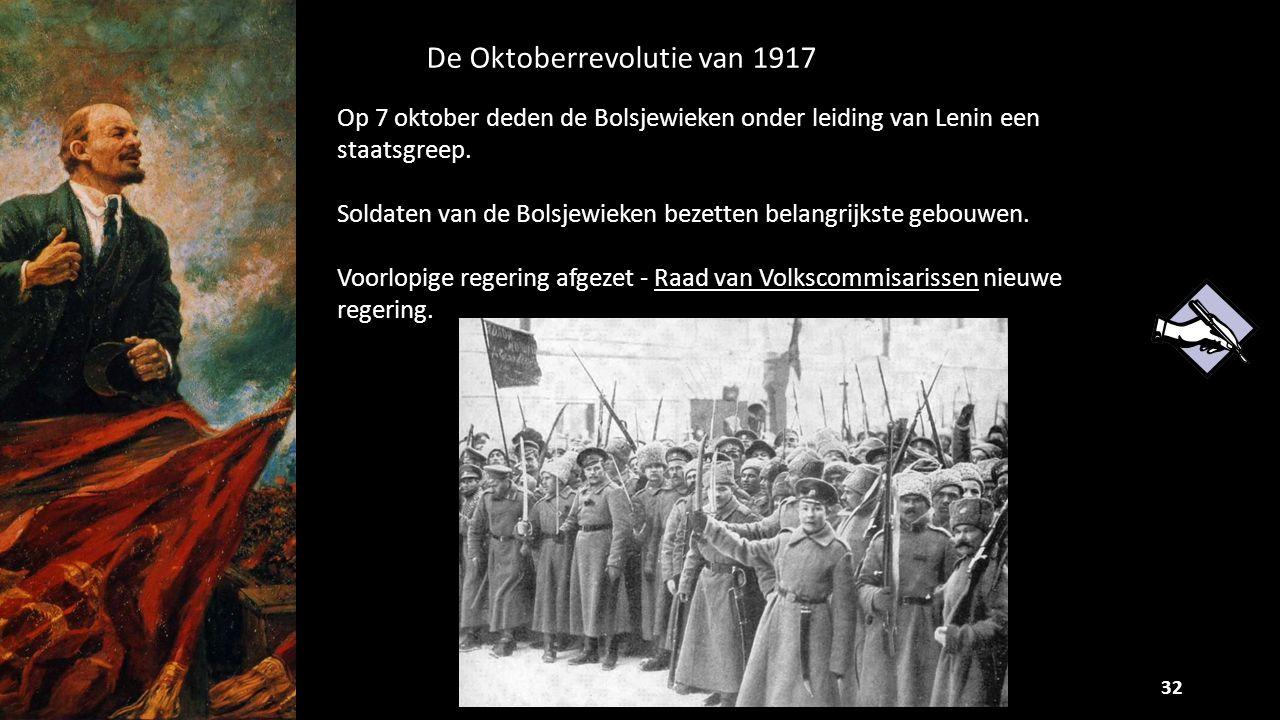 De Oktoberrevolutie van 1917