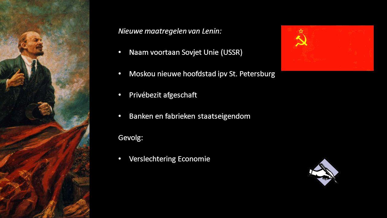 Nieuwe maatregelen van Lenin: Naam voortaan Sovjet Unie (USSR)