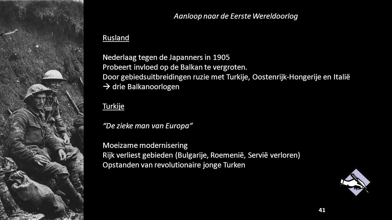 Aanloop naar de Eerste Wereldoorlog