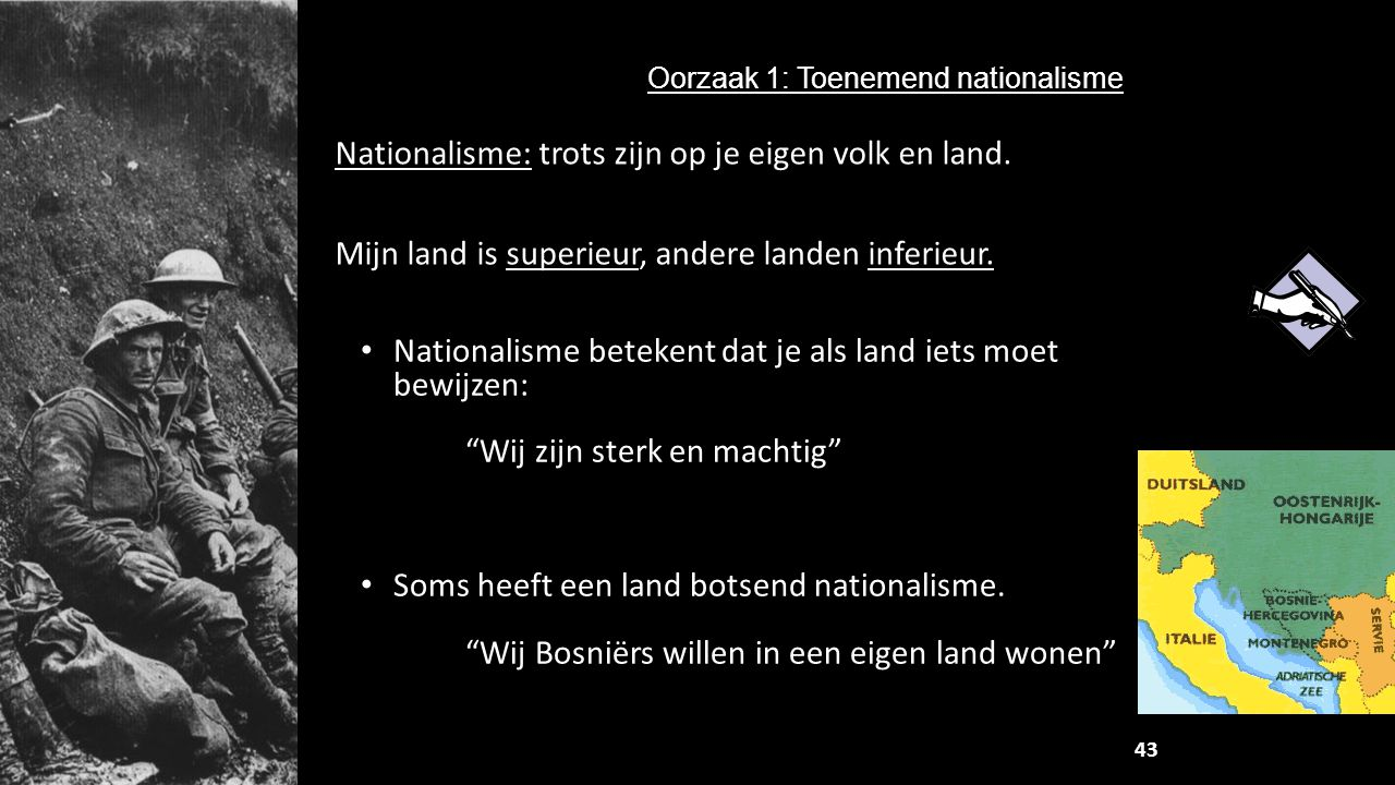 Oorzaak 1: Toenemend nationalisme