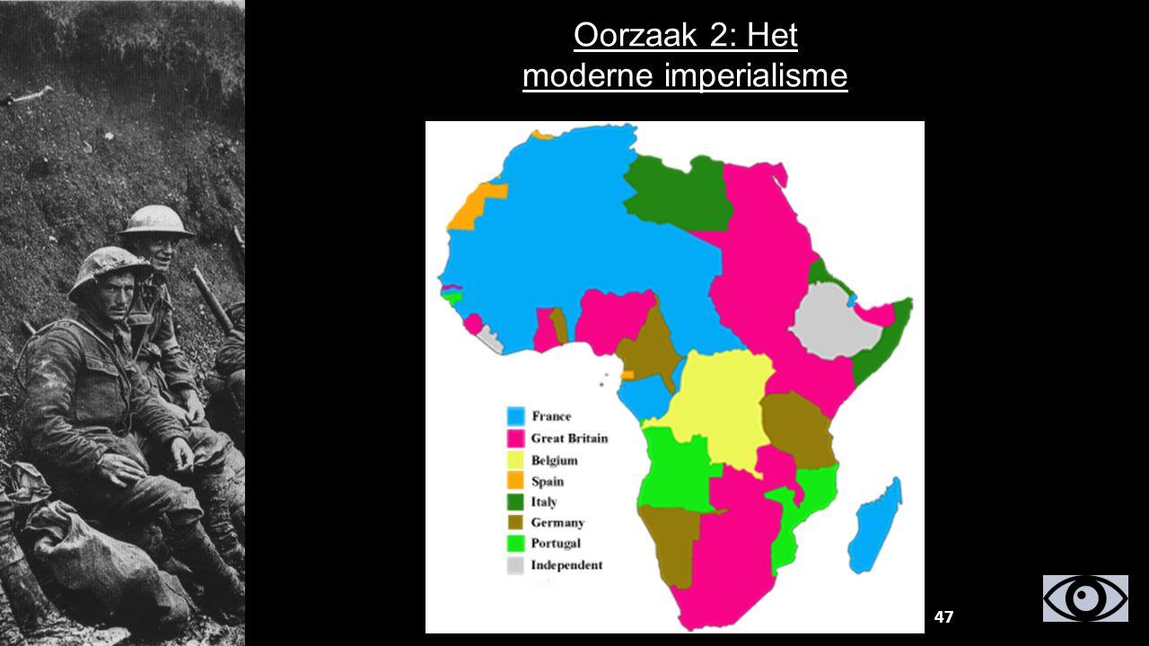 Oorzaak 2: Het moderne imperialisme