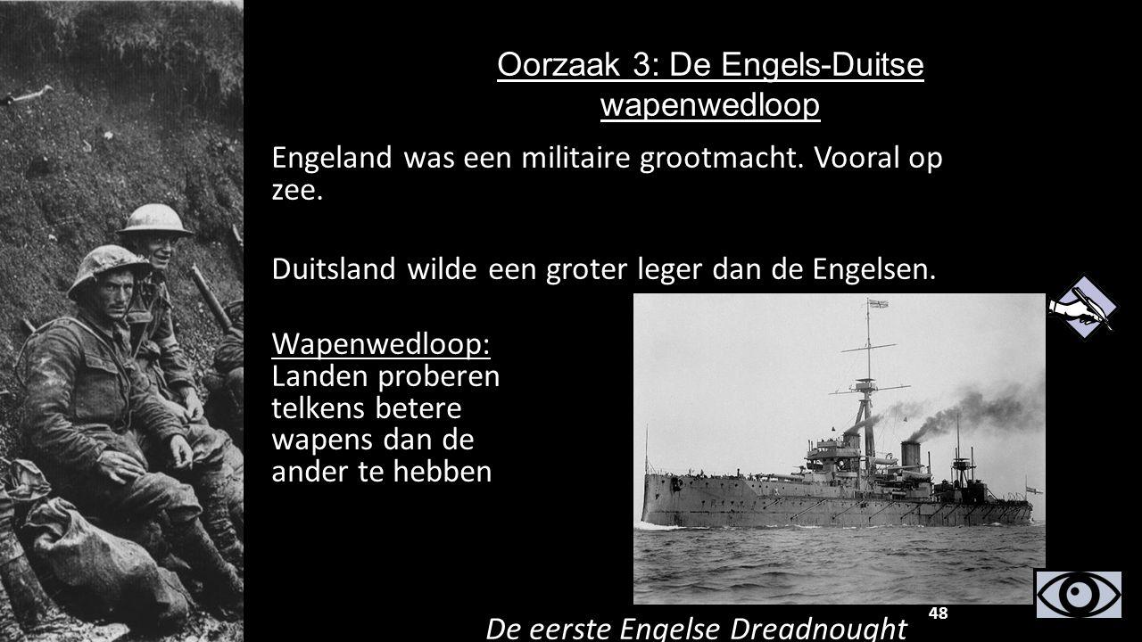 Oorzaak 3: De Engels-Duitse wapenwedloop