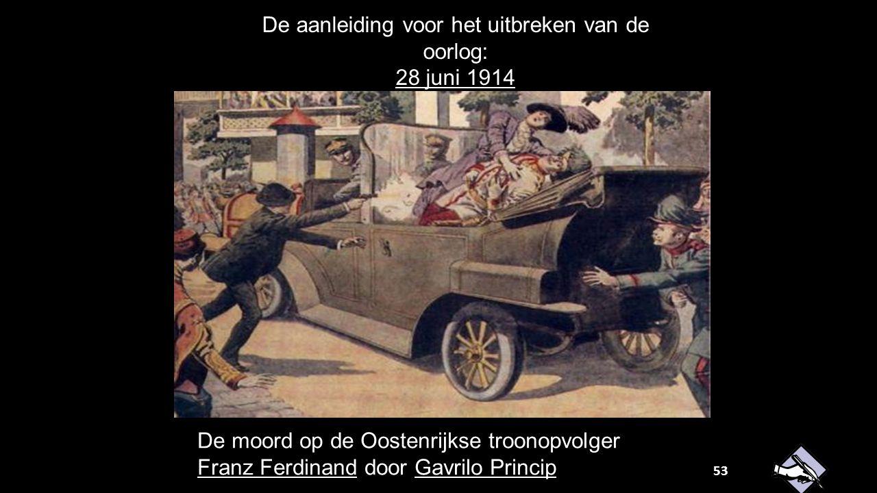 De aanleiding voor het uitbreken van de oorlog: 28 juni 1914