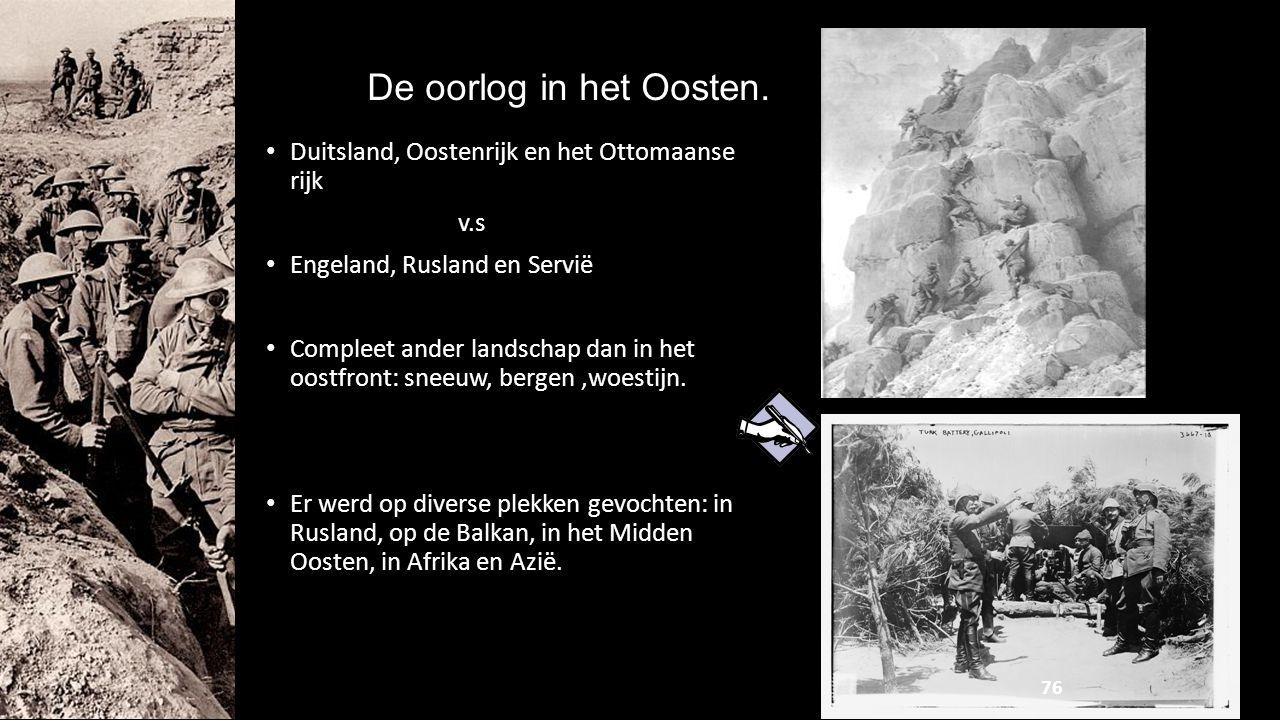 De oorlog in het Oosten. Duitsland, Oostenrijk en het Ottomaanse rijk