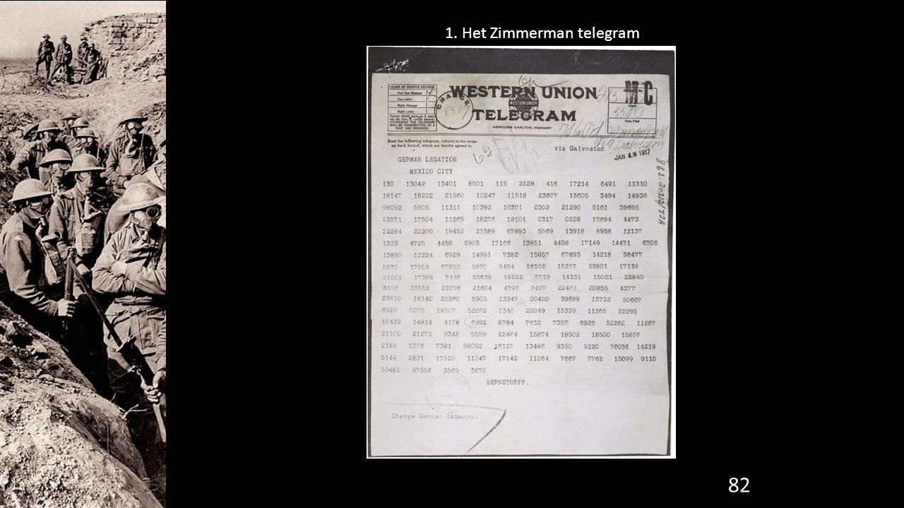 1. Het Zimmerman telegram