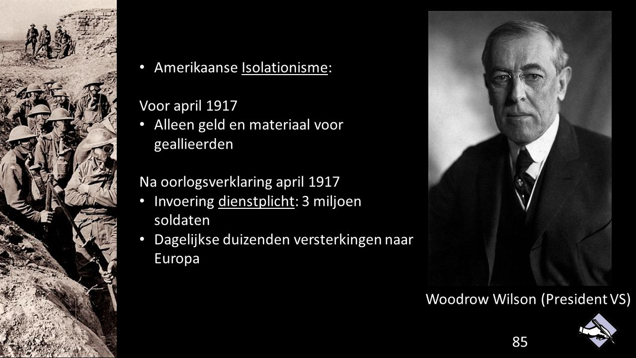 Amerikaanse Isolationisme: Voor april 1917