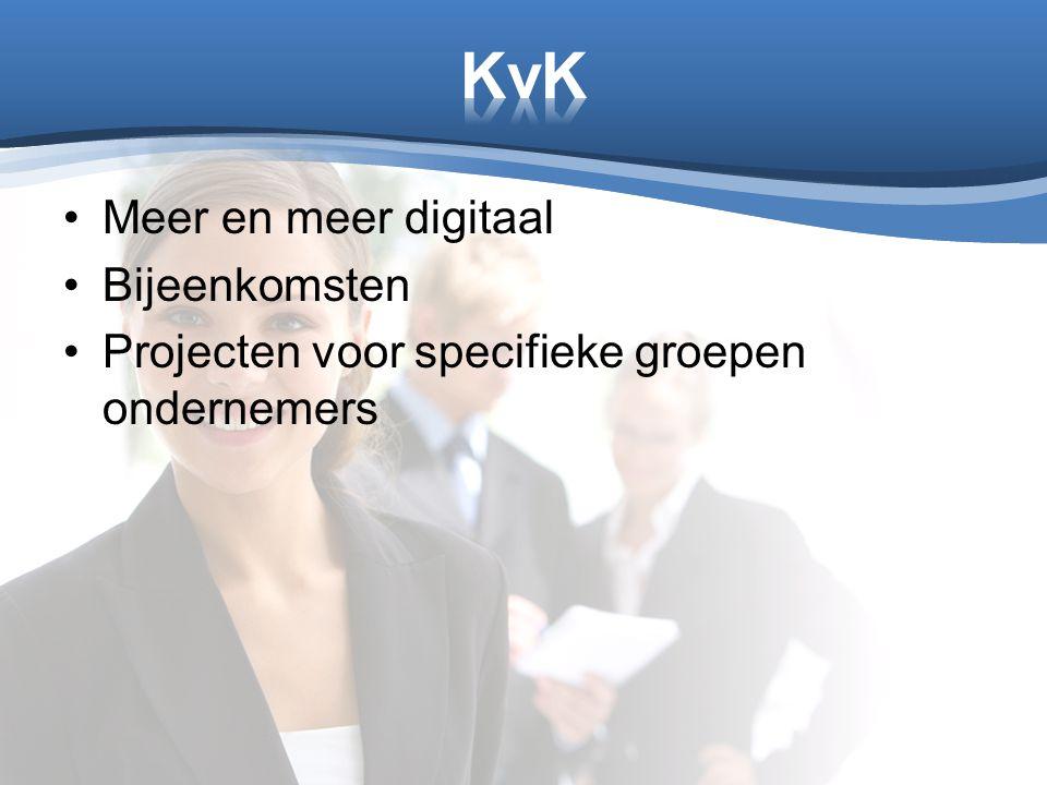 KvK Meer en meer digitaal Bijeenkomsten