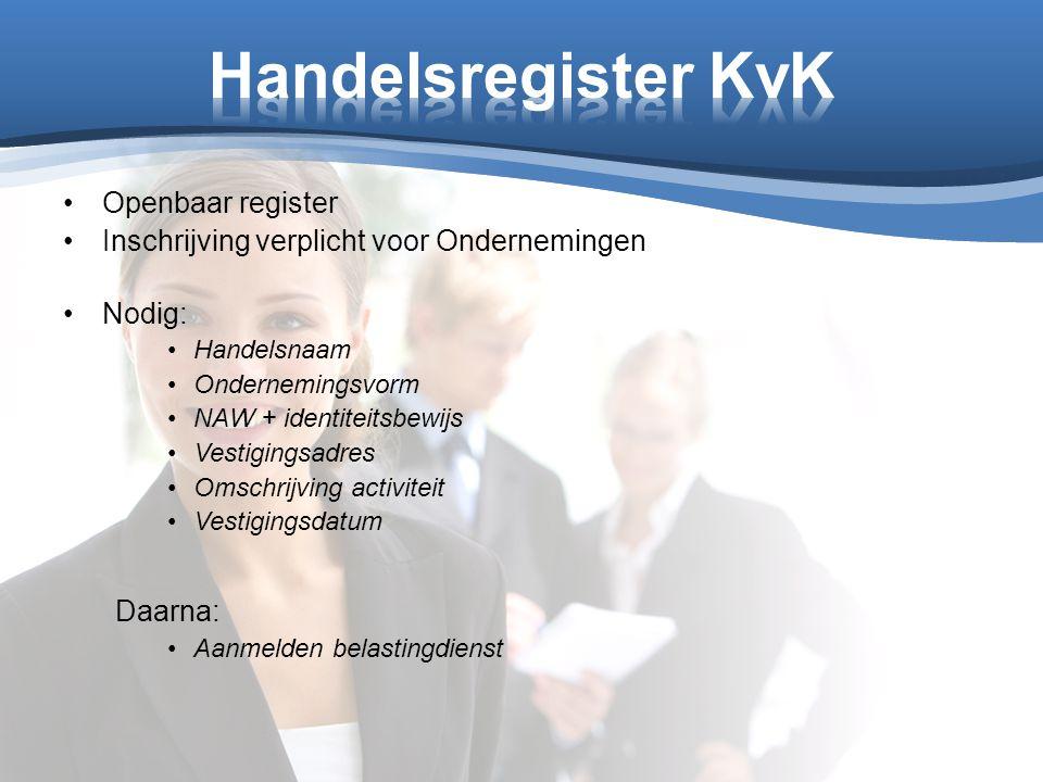 Handelsregister KvK Openbaar register