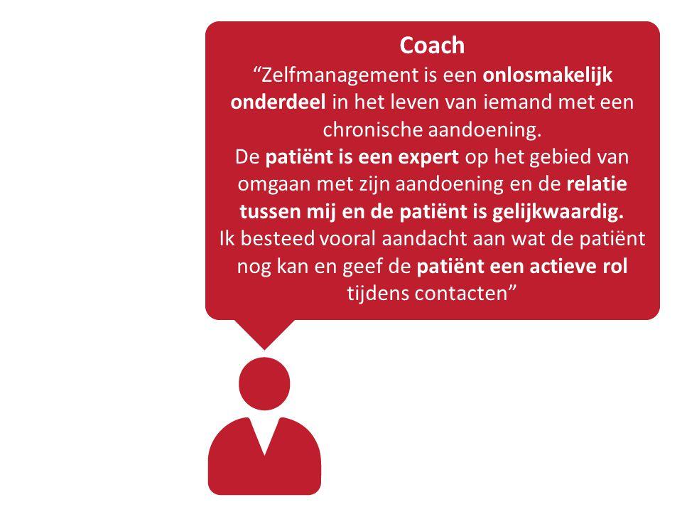 Coach Zelfmanagement is een onlosmakelijk onderdeel in het leven van iemand met een chronische aandoening.