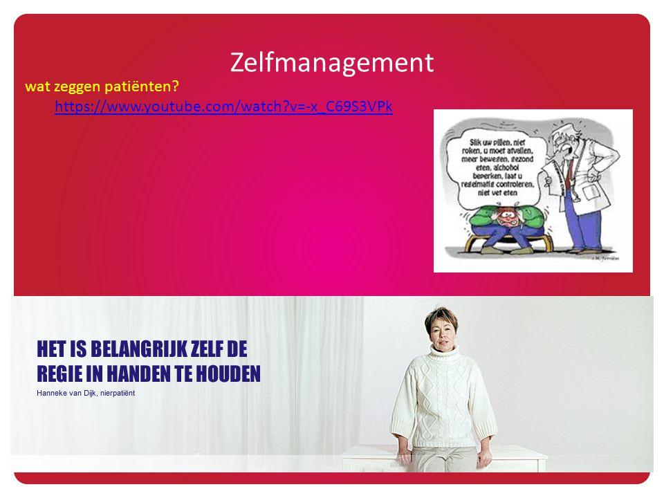 Zelfmanagement wat zeggen patiënten