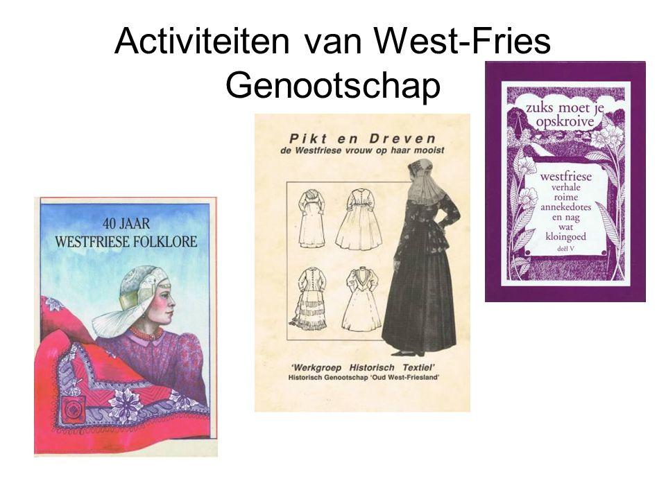 Activiteiten van West-Fries Genootschap