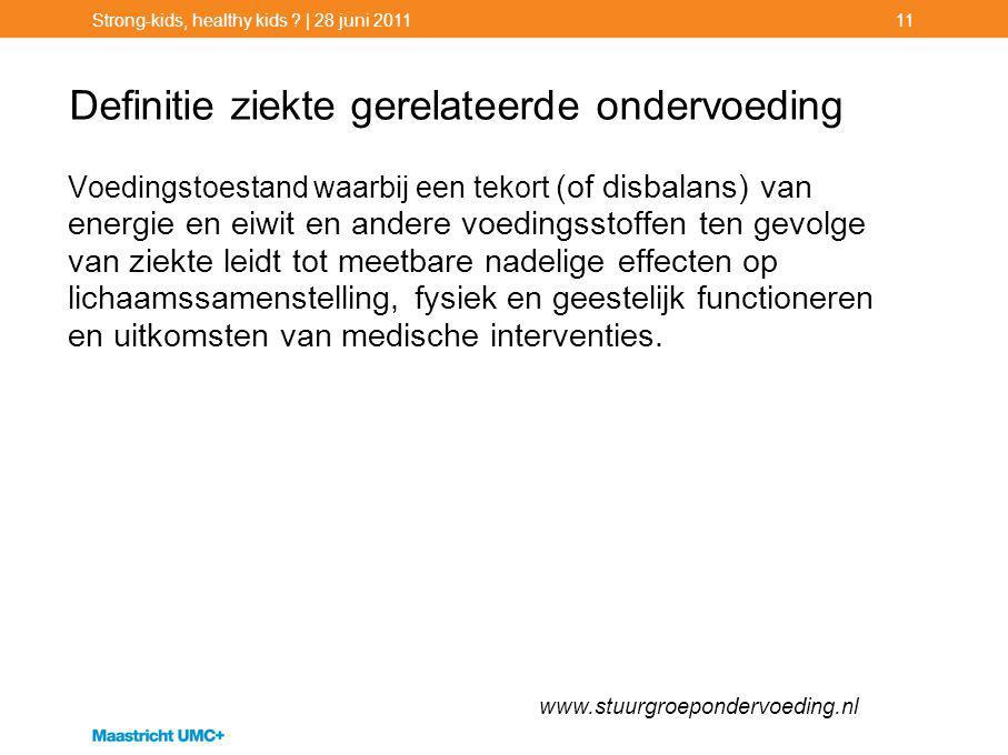 Definitie ziekte gerelateerde ondervoeding