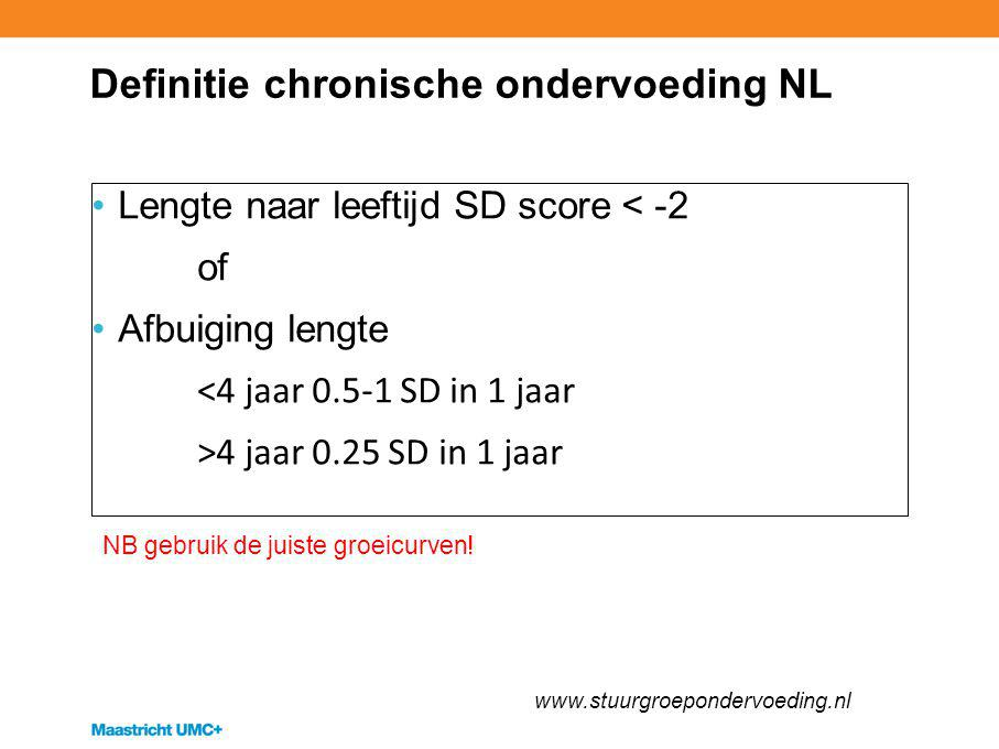 Definitie chronische ondervoeding NL