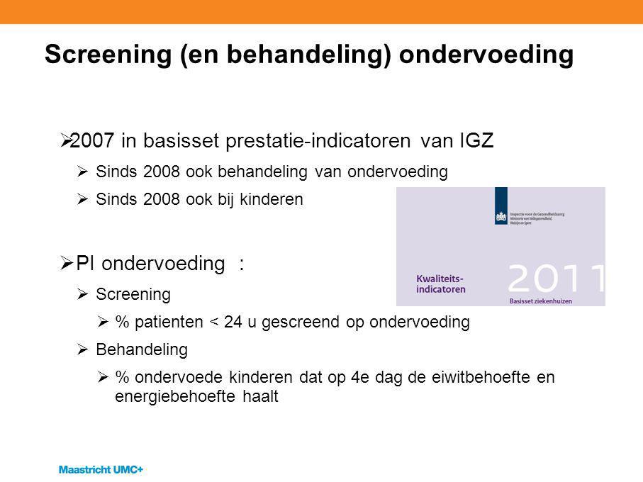 Screening (en behandeling) ondervoeding
