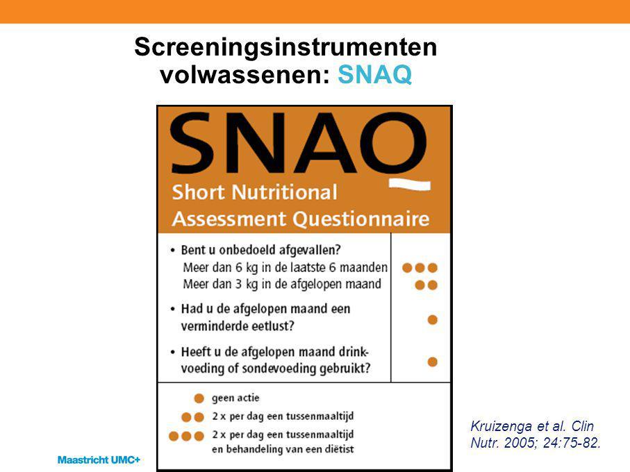 Screeningsinstrumenten volwassenen: SNAQ