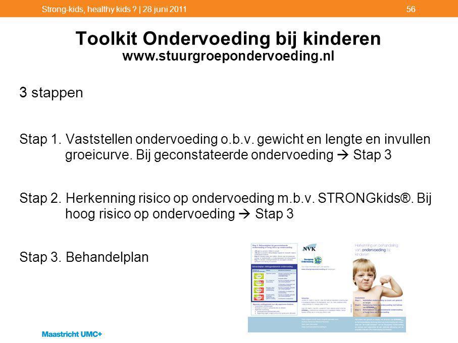 Toolkit Ondervoeding bij kinderen www.stuurgroepondervoeding.nl