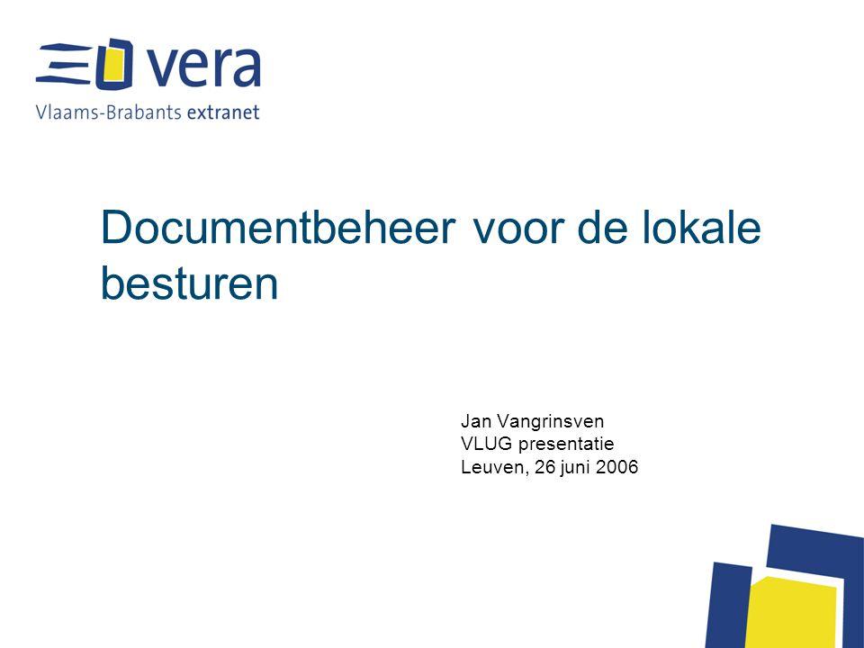 Documentbeheer voor de lokale besturen