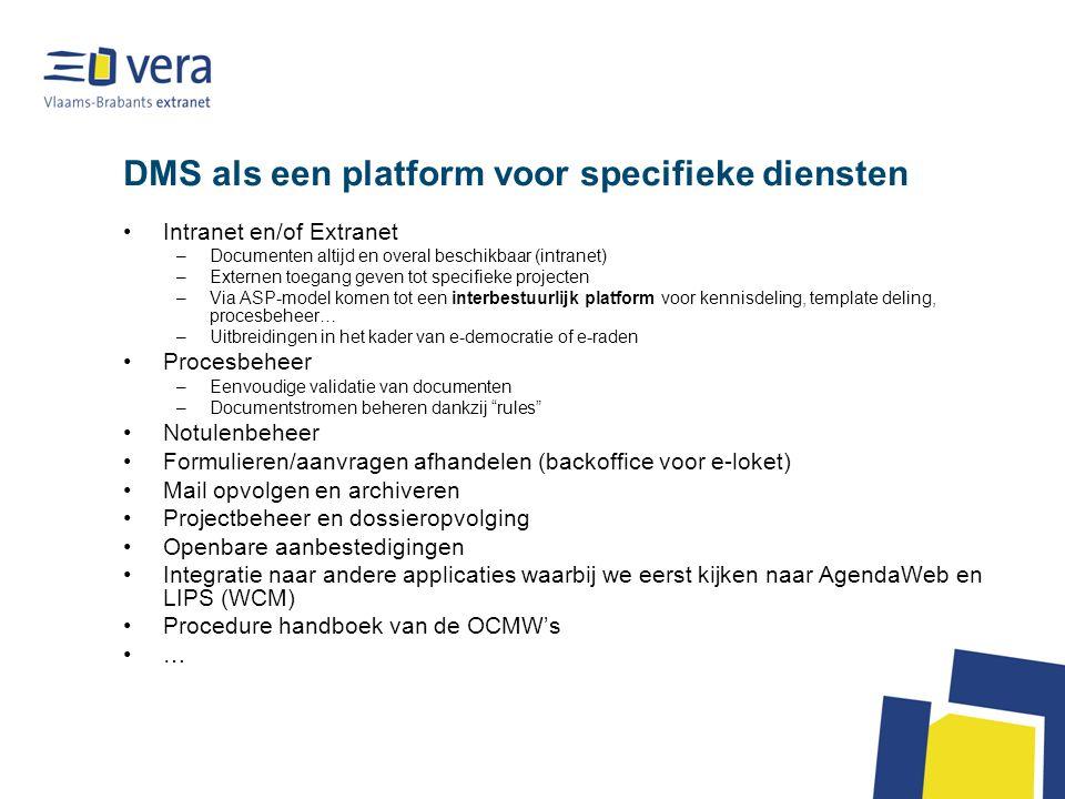 DMS als een platform voor specifieke diensten