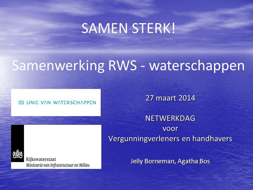 Samenwerking RWS - waterschappen