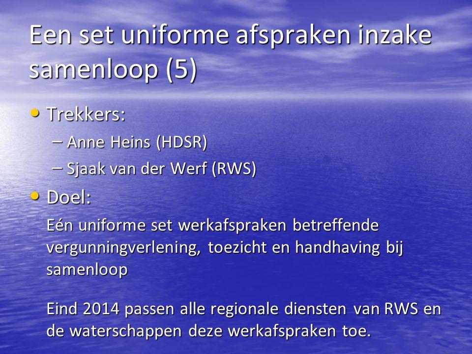 Een set uniforme afspraken inzake samenloop (5)