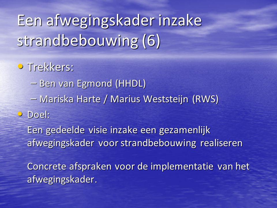 Een afwegingskader inzake strandbebouwing (6)